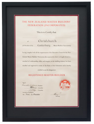 framed certificate degree