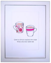 white with black border picture of red cups